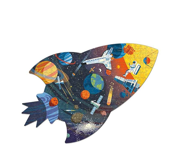 Puzzle Shaped Outer Space 300 pcs de Mudpuppy