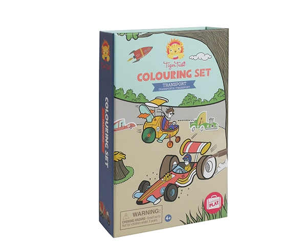 Colouring Set Transport de Tiger Tribe