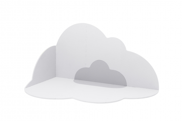 Playmat Head in the clouds pearl grey L de Quut
