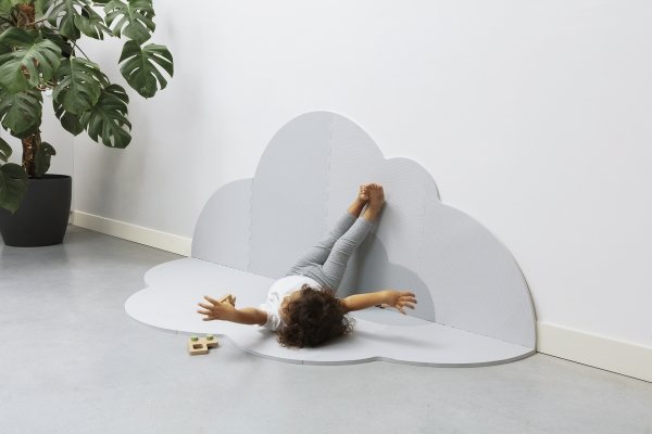Playmat Head in the clouds pearl grey L de Quutopia