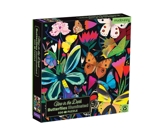 Glow in Dark Puzzle Butterflies Illuminated 500 pcs de Mudpuppy