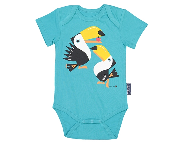 LIITA Toucan Blue Body Short Sleeves 3/6m de Coqenpâte Primavera Verano 2021