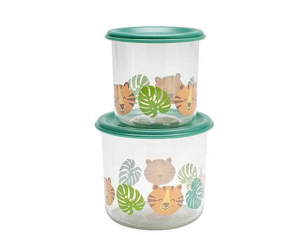 Tiger Good Lunch Snack Containers Large (Set of 2) de Sugarbooger