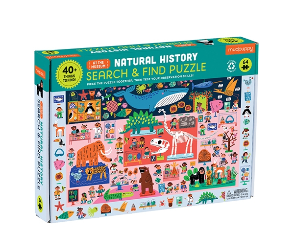 Search & Find Puzzle Natural History Museum de Mudpuppy