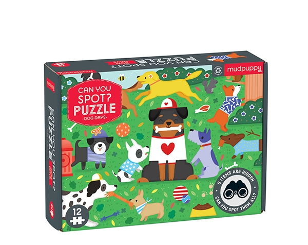 Can You Spot? Puzzle Dog Days de Mudpuppy