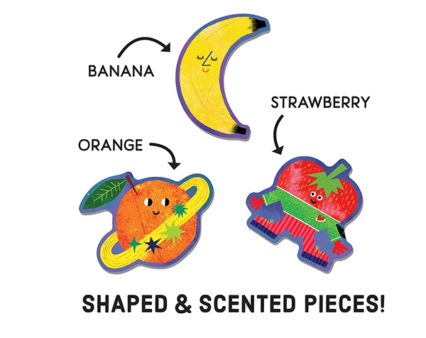 Scratch and Sniff Puzzles Cosmic Fruits de Mudpuppy