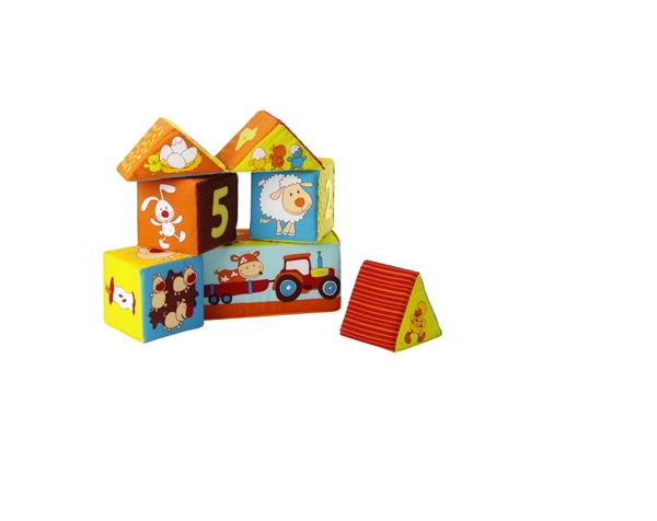 Farmhouse set of 6 cubes de Lilliputiens