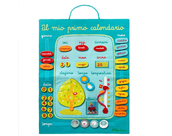 Il mio primo calendario (IT) de Lilliputiens