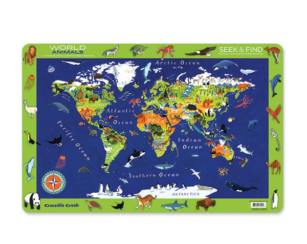 Placemat World Animals Set 6 de Crocodile Creek