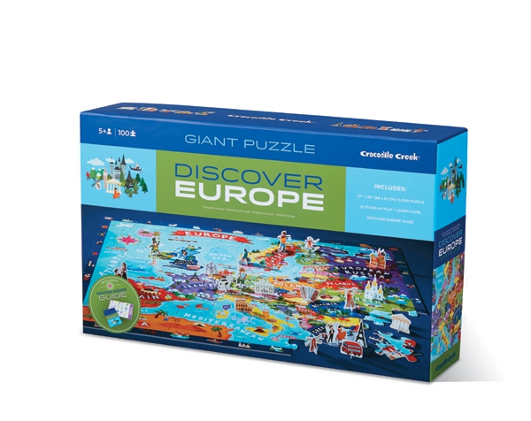Puzzle Discover  Europe 100 p de Crocodile Creek